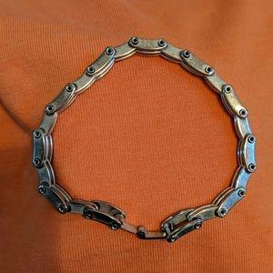 """Sterling silver, """"bike chain,"""" bracelet 7 1/2"""""""